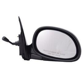 Pilot Automotive TYC 4710111 Black Passenger/ Driver Side Manual Remote Replacement Mirror for Honda Civic