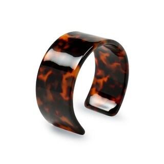Bling Jewelry Acrylic Tortoise Shell Wide Brown Bracelet Cuff
