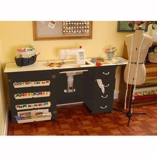 Arrow Norma Jean Model 353 Sewing Machine Table Cabinet in Black