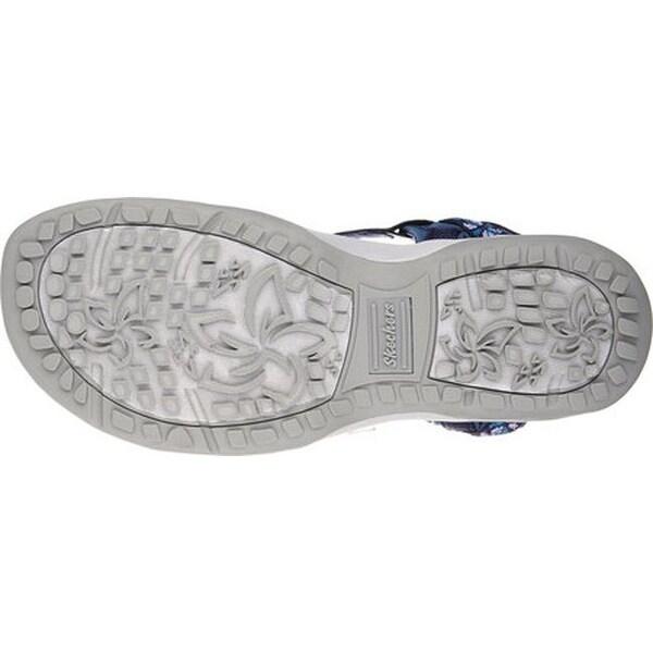 skechers reggae slim vacay sandals navy