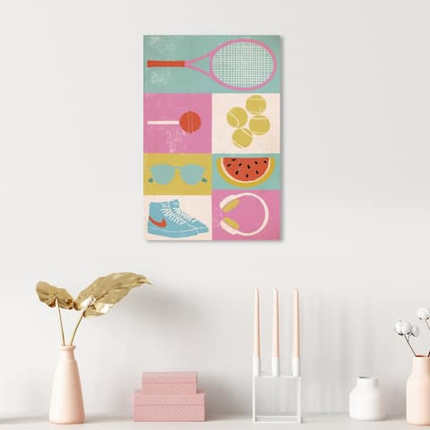 Oliver Gal 'One summer Afternoon' Sports Blue Wall Art Canvas Print