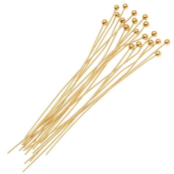 Shop Fancy 14k Gold Filled 1 5mm Ball Head Pins 24 Gauge 1