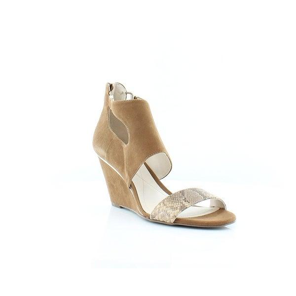 Alfani Womens Giah Leather Open Toe Casual Platform Sandals