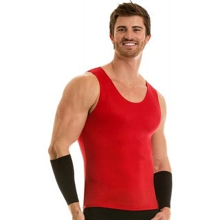 Insta Slim Pro Active Wear Muscle Tank Compression Slimming Under Shirt - Red