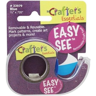 Blue Crafters Easy See Removable Craft Tape - 0.5 x 720 in.