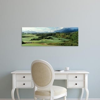 Easy Art Prints Panoramic Images's 'Golf course, Princeville Golf Course, Princeville, Kauai County, Hawaii' Canvas Art