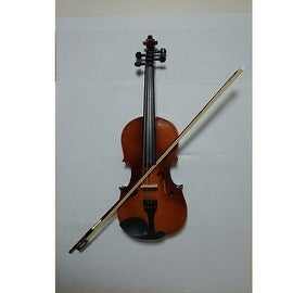 Student Acoustic Violin Full 3/4 Maple Spruce with Case Bow Rosin Yellow Color