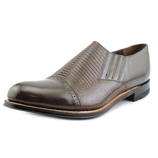 Stacy Adams Madison Slip On Men  Round Toe Leather Brown Oxford