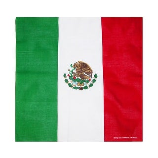 CTM® Cotton Mexican Flag Bandana - mexico - One Size