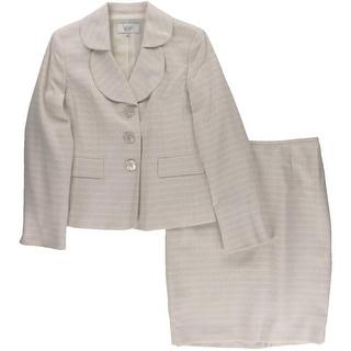 Le Suit Womens Petites Textured 2PC Skirt Suit