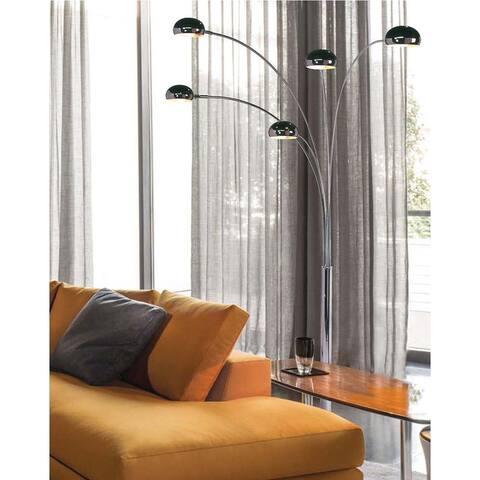 Mushroom Black Nickel 5-Light Arc Lamp
