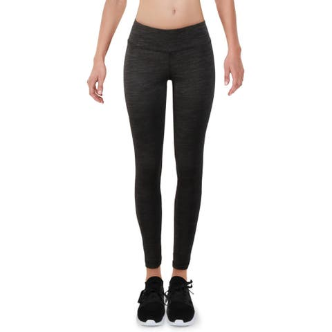 Reebok Womens Athletic Leggings Fitness Workout - Black - XS