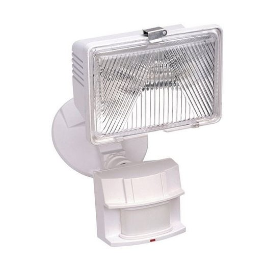 Heath Zenith HZ-5525-WH Security Light, 250 W, 120 V, White