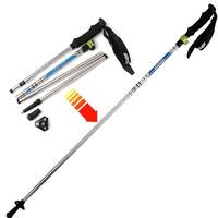 Trekking Hiking Stick Walking Pole Telescoping Adjustable Ultralight Folding 7075 Aluminum