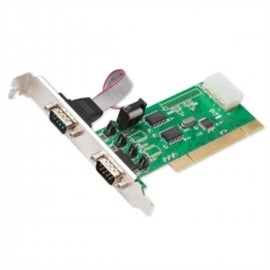 SYBA Controller Card SD-PCI15039 PCI Serial 2xDB9 Full Low Profile Brackets Retail