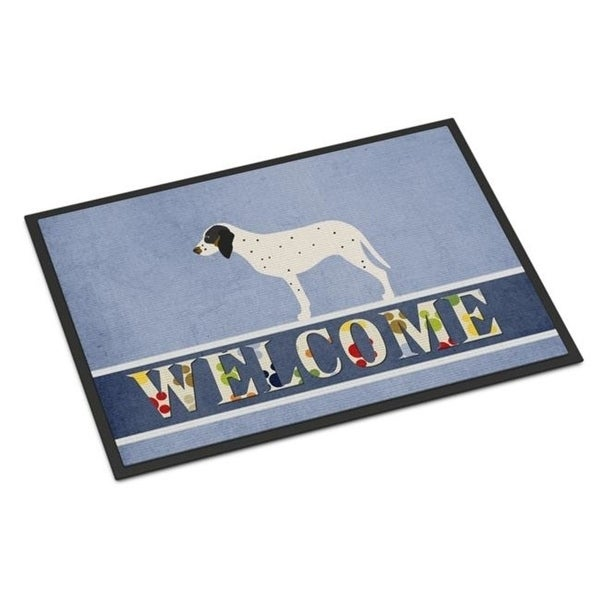 Carolines Treasures BB8275MAT Gascon Saintongeois Welcome Indoor or Outdoor Mat - 18 x 27 in.