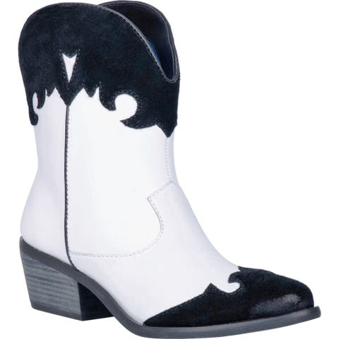 Dingo Western Boots Womens Go For It Leather Retro Bootie