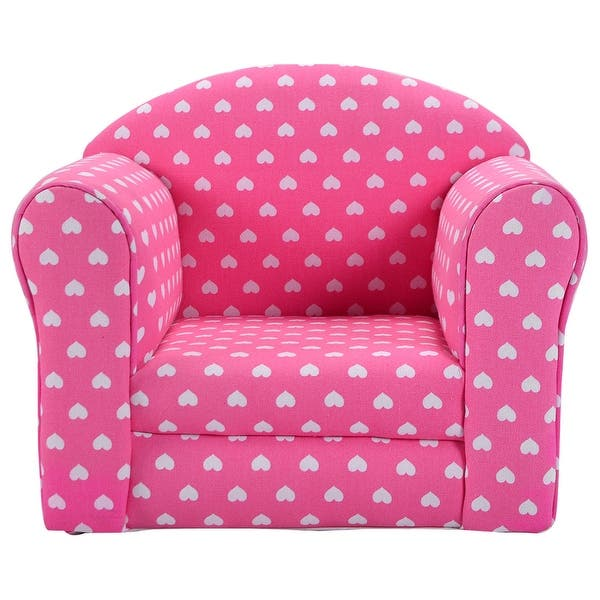 Costway Pink W Stars Kid Sofa Armrest Chair Couch