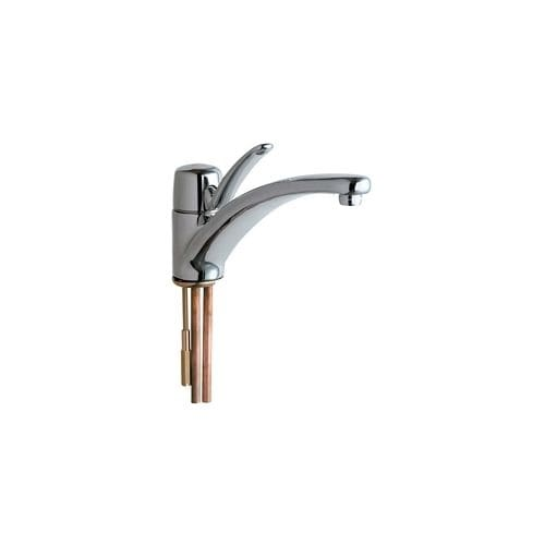 Chicago Faucets 2300 E34ab Commercial Grade Kitchen Faucet With Lever Handle Eco Friendly Flow Rate Chrome