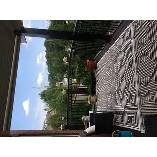 Shop Nuloom Indoor Outdoor Greek Key Porch Rug 8 X 10