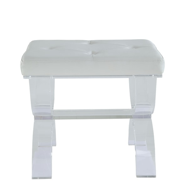 Peachy Shop Stool In White Leatherette And Clear Acrylic Free Gmtry Best Dining Table And Chair Ideas Images Gmtryco