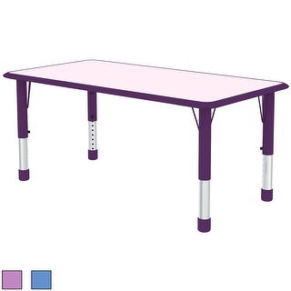 2xhome Adjustable Height Table For Toddler Child Kids Children Preschool School Daycare Wood Activity Table Modern Home Purple