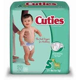 Cuties Premium Diapers Size 5 27 Each [4 packs per case]