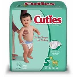 Cuties Premium Diapers Size 5 27 Each [4 packs per case] (4 options available)