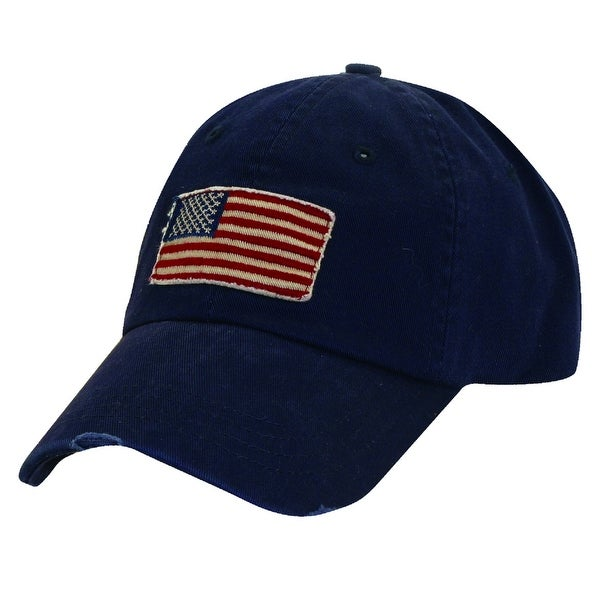 Dorfman Pacific Cotton Stars and Stripes American Flag Baseball Hat