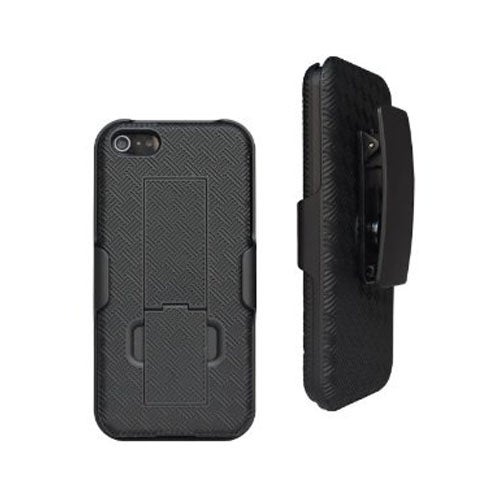 Unlimited Cellular Rubberized Shell Kickstand Holster for Apple iPhone 5, 5S, SE
