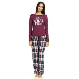 Hello Kitty Mixing Fun Flannel Top/Pant Pajama Set