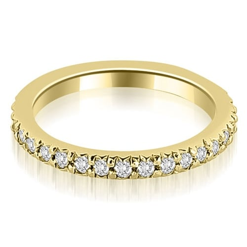 Petite 0.40 ct.tw 14K Yellow Gold Round Cut Stackable Diamond Eternity Ring HI, SI1-2