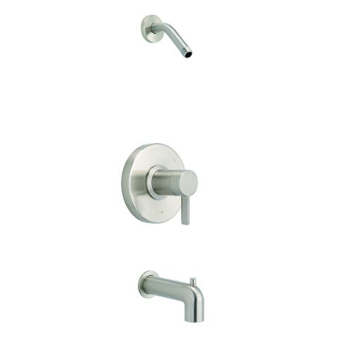 Amalfi 1H Tub & Shower Trim Kit & Treysta Cartridge w/ Diverter on Spout Less Showerhead Brushed Nickel