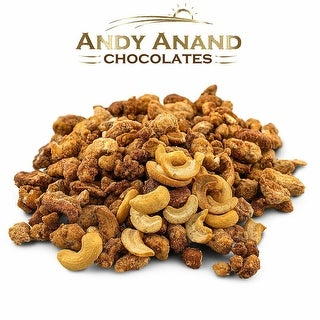 Link to Andy Anand Honey Butter Roasted Toffee Cashews 1 lbs Gift Box & Greeting Card Similar Items in Gourmet Food Baskets