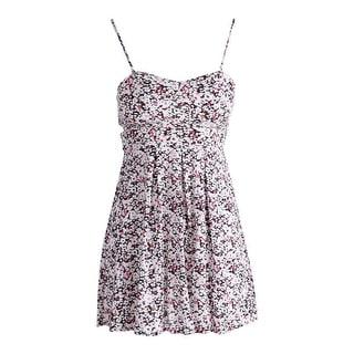 Material Girl Womens Juniors Printed High Waist Casual Dress
