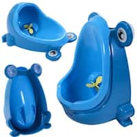 Costway New Cute Frog Potty Training Urinal for Boys with Funny Aiming Target (blue) - Blue