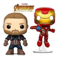 Funko Pop! Marvel Infinity War Captain America and Iron Man - Collectible Vinyl Figures (2 Items)