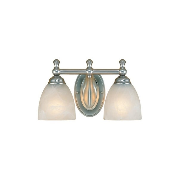 Millennium Lighting 602 2-Light Bathroom Vanity Light - satin nickel - n/a