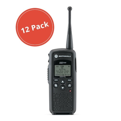 Motorola DTR550 (12 Pack) Portable Digital Radio