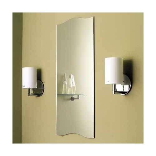 "Ginger 241 16"" x 36"" Frameless Mirror from the Sine Collection"