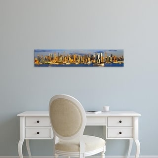 Easy Art Prints Panoramic Images's 'View of Manhattan skyline, New York City, New York State, USA' Premium Canvas Art