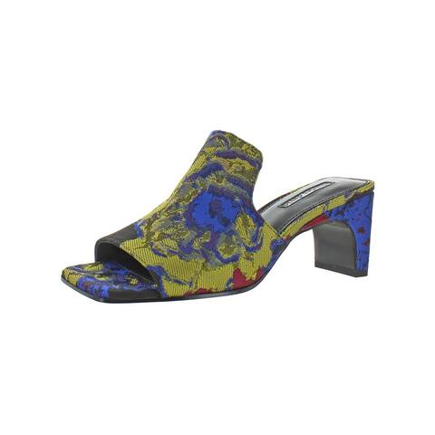 Charles David Womens Herald Mule Sandals Floral Print Slip On - Multi Floral Fabric