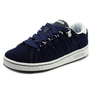 K-Swiss Lozan Youth Round Toe Suede Blue Sneakers