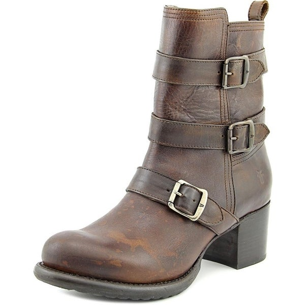Frye Vera Women Round Toe Leather Brown Ankle Boot
