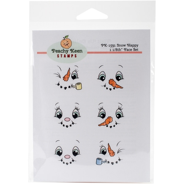 Peachy Keen Stamps Clear Face Assortment 6/Pkg-Snow Happy