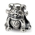 Sterling Silver Reflections Dog with Bone Bead (4mm Diameter Hole) - Thumbnail 0