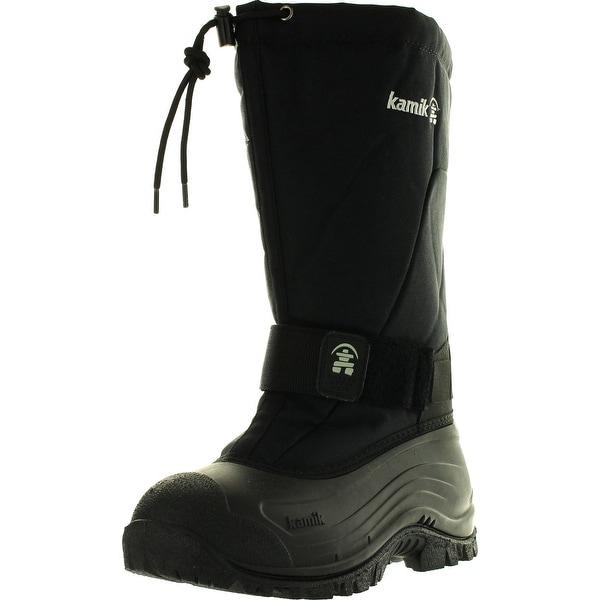 Kamik Mens Greenbays4 Waterproof Snow Boots - Black