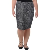 Tommy Hilfiger Womens Pencil Skirt Tweed Textured