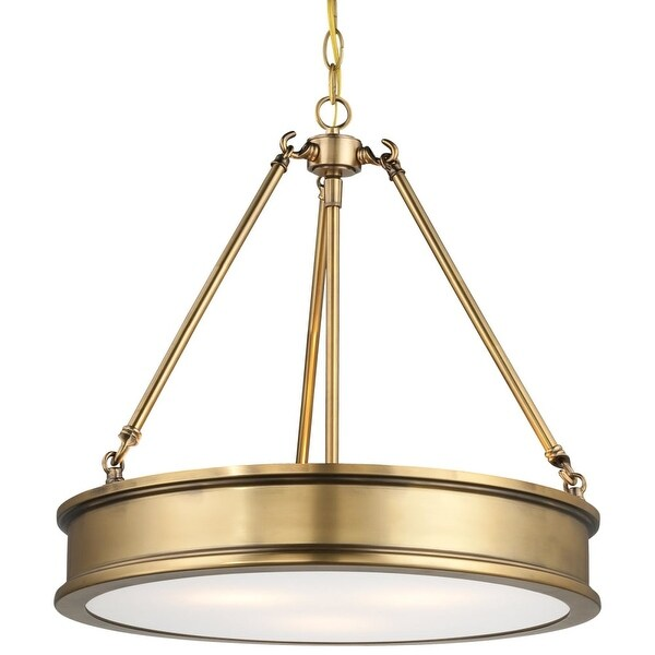 """Minka Lavery 4173 3 Light 18.5"""" Height Indoor Full Sized Pendant from the Harbour Point Collection - liberty gold"""
