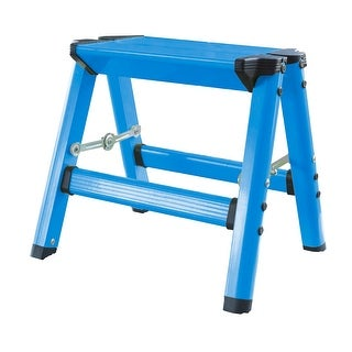 Offex Lightweight Single Step Aluminum Step Stool Neon Blue
